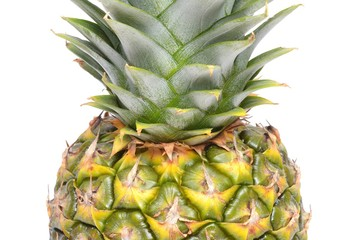 Wall Mural - Close up texture of fresh ripe pineapple background