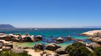Beautiful rocky beach at Cape of Good Hope