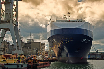 Gdynia, Poland - September 07, 2007: Gdynia harbour