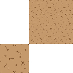 Seamless brown pattern for Labor Day holiday with pattern unit.