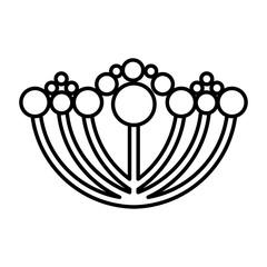 cute flower emblem icon vector illustration design