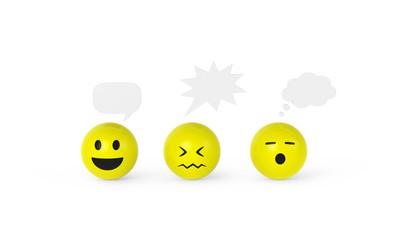 Smileys mit Sprechblasen