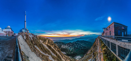 Sunrise on Pic du Midi, France