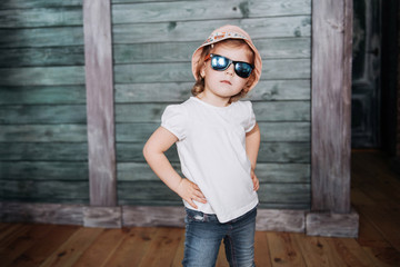 Fashion little girl, a child dressed