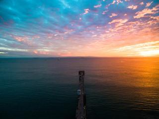Dramatic Pier Sunset