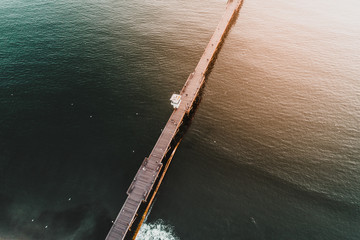 abstract pier at sunset