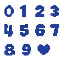 Пиксельные цифры