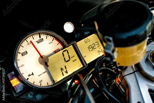 BMW S1000RR Sport Bike Dashboard