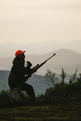 Silhouette of Big Game Hunter