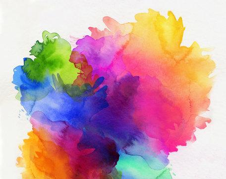 aquarell regenbogen abstrakt verlauf