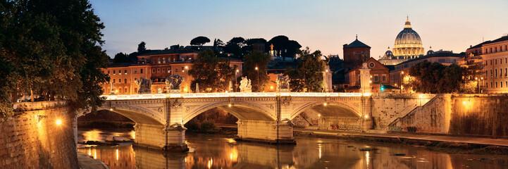 Wall Mural - Rome River Tiber panorama