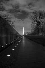 Washington Monument viewed from the Vietnam Veterans Memorial