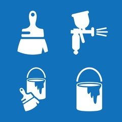 Set of 4 paint filled icons