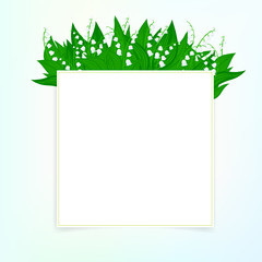 Spring card background with lily of the valley
