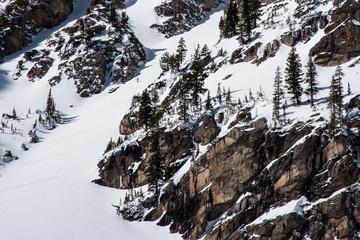 Skier Above Emerald Lake, Rocky Mountain National Park