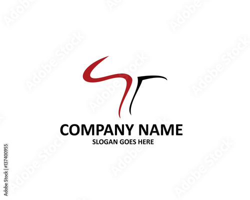 St Letter Logo Stock Image And Royalty Free Vector Files On