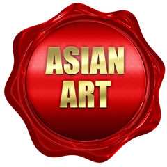 asian art, 3D rendering, red wax stamp with text