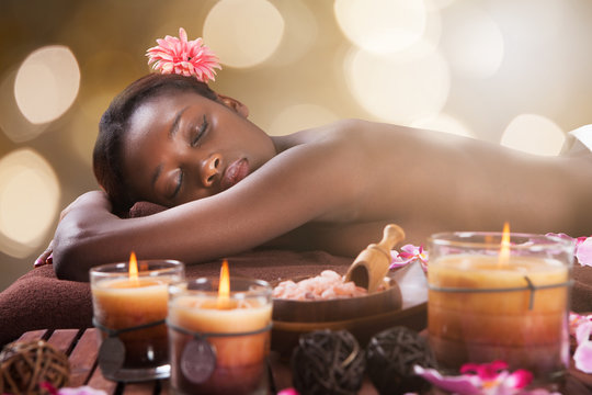 Woman Relaxing At Beauty Spa