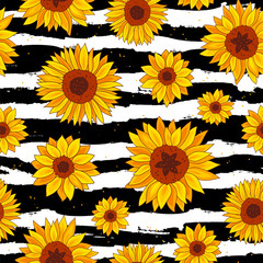 Sunflowers. Fun summer print.