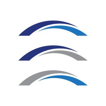 Simple Arch Bridge Logo
