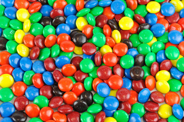 colorful chocolate candy background