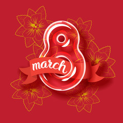 8 March Womens Day greeting card