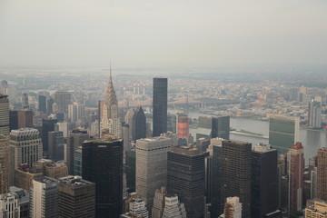 vistas de Nueva York del edificio empire state, Manhattan, EEUU
