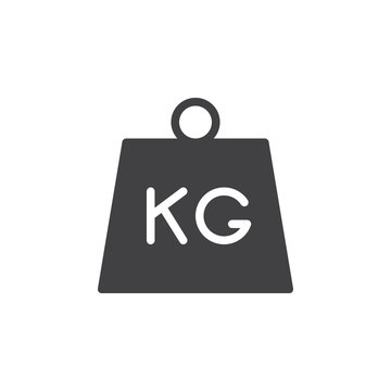 Kettlebell icon vector, filled flat sign, solid pictogram isolated on white. Parcel weight symbol, logo illustration