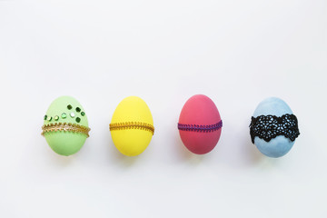 Design Easter egg collections on white background