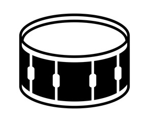 Snare drum or side drum musical instrument flat vector icon for music apps and websites