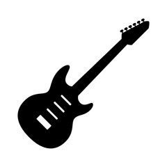 Electric guitar musical instrument flat vector icon for music apps and websites
