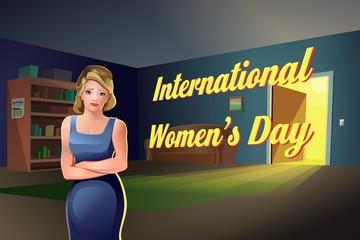 Международный женский день девушка квартира
