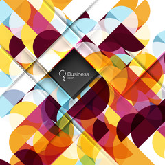 Vector circle and triangle abstract background
