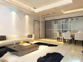 3d rendering of home interior.