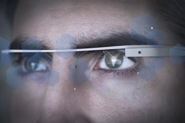 digital glasses man