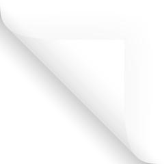 Papier / Seite umschlagen unten links weiß