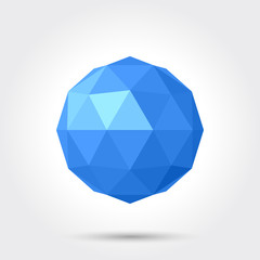 3d vector low poly spherical ball