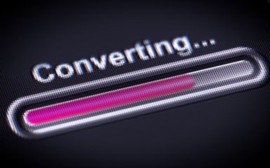 Process of Converting on a screen.