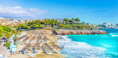 Wall Mural - El Duque beach at Costa Adeje. Tenerife, Canary Islands, Spain