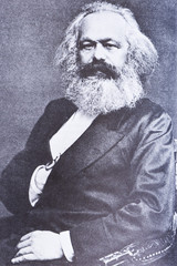 Portrait of the philosopher Karl Marx