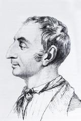 Portrait of the philosopher Claude Henri de Saint-Simon