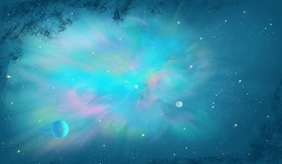 Starry skies / space / digital painting