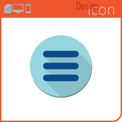 Vector icon on white background. Designer trend. Menu Icon For use on the Web site or application.