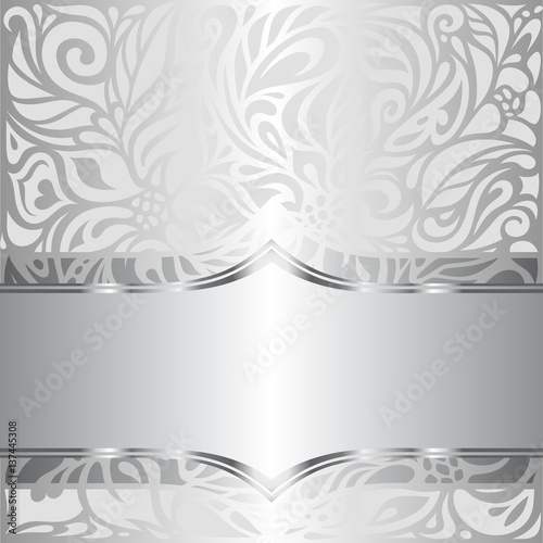 quotsilver shiny floral vintage pattern wallpaper background