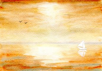 Seascape in ocher