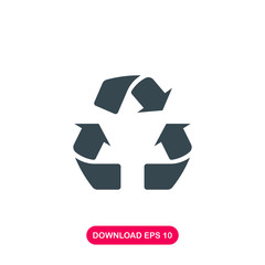 Recycle icon vector