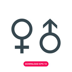 Male and female symbol icon vector