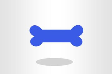 Illustration of dog bone against plain background