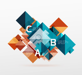Modern square composition, abstract banner