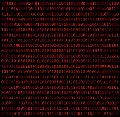 binary code zero one matrix red background beautiful banner wallpaper